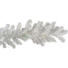 Pre-Lit Battery Operated LED White Artificial Christmas Garland