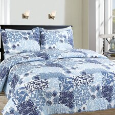 Pacific 3 Piece Printed Reversible Quilt Set
