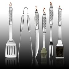 6 Piece Hollow Handle Barbecue Tool Set