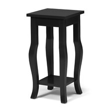 Lillian Wood Pedestal End Table