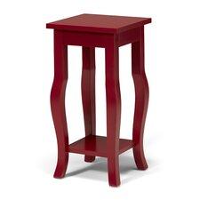 Lillian Wood Pedestal End Table