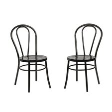 Modern Metal Side Chair (Set of 2)