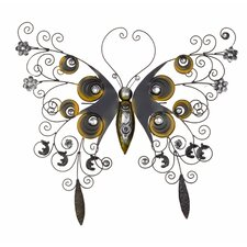 Wrought Iron Textured Butterfly Wall Décor