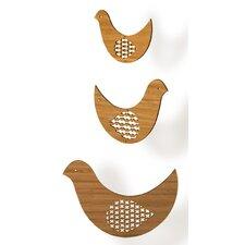 Bird Trio Bamboo Mobile