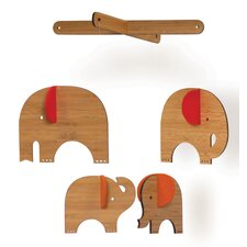Red Elephant Deluxe Bamboo Mobile