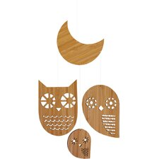 Owl Family Bamboo Mobile