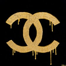 Chanel Gold Lust by Pop Art Queen Graphic Art on Wrapped Canvas