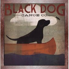 'Black Dog Canoe Company' by Ryan Fowler Framed Vintage Advertisement