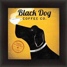 'Black Dog Coffee Company' by Ryan Fowler Framed Vintage Advertisement