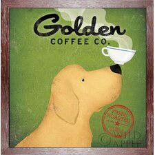 'Golden Dog Coffee Company' by Ryan Fowler Framed Vintage Advertisement