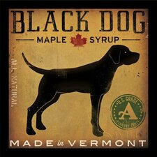 'Black Dog Maple Syrup' by Ryan Fowler Framed Vintage Advertisement