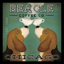 'Beagle Coffee Company Chicago' by Ryan Fowler Framed Vintage Advertisement