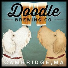 'Doodle Brewing Company Cambridge' by Ryan Fowler Framed Vintage Advertisement
