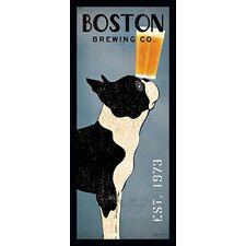 'Boston Terrier Brewing Company' by Ryan Fowler Framed Vintage Advertisement