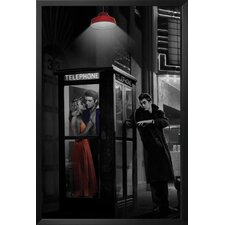 'Midnight Matinee Marilyn Monroe/James Dean and Elvis Presley Hollywood Romantic Movie Theatre Phone Booth' by Chris Consani Framed Photographic Print