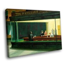 Nighthawks Phillies by Edward Hopper Painting Print on Canvas