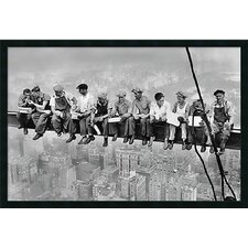 'Lunch Atop a Skyscraper' by Charles C. Ebbets Framed Photographic Print