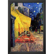 'Cafe Terrace at Night' by Vincent Van Gogh Framed Painting Print