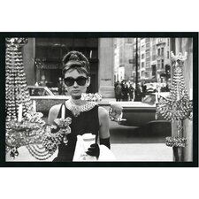 Audrey Hepburn in Breakfast at Tiffany's Framed Photographic Print