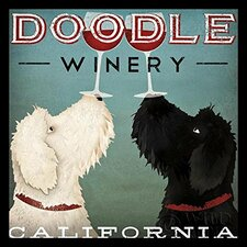 'LabraDoodle Winery' by Ryan Fowler Framed Vintage Advertisement