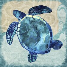 'Sea Turtle' by Jill Meyer Graphic Art on Wrapped Canvas