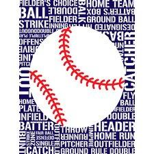 Sports - Baseball Typography by Tenisha Graphic Art on Canvas