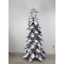 7' Green Artificial Christmas Tree with Stand