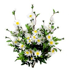 6 Stems Artificial Full Blooming Daisy Flowers, Flower Buds and Greenery