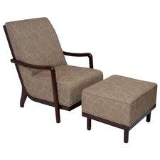 Manhattan Fabric Lounge Chair and Ottoman