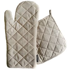 2 Piece Oven Mitt Potholder Set