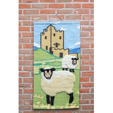 Sheep and Castle Tapestry Wall Décor
