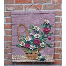 Flower Basket Tapestry Wall Décor
