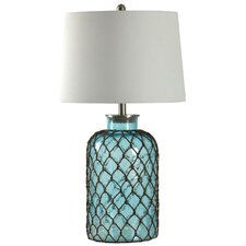 "Belvidere Nautical Net 30"""" H Table Lamp with Empire Shade"