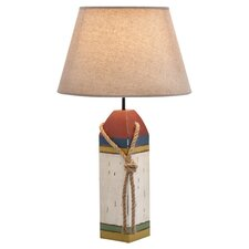 "Penarth Coastal Wooden Buoy 24"" H Table Lamp with Empire Shade"