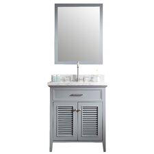 "Brewster 31"" Single Bathroom Vanity Set with Mirror"