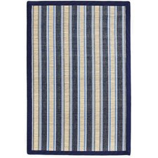 Phillipston Surf Blue Striped Area Rug