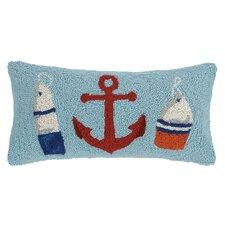 Quays Anchor, Beach and Whale Hook Wool Lumbar Pillow