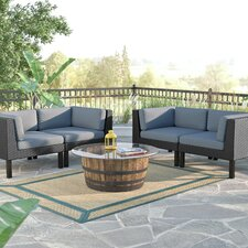 Zoar 4 Piece Deep Seating Group with Cushions