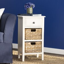 Deepwater 1 Drawer End Table in White