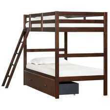 Simmons Casegoods Mission Hills Twin over Twin Bunk Bed with Ladder and Two Storage Drawers