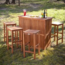 Thurston 3 Piece Outdoor Bar Set