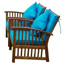 Sabbattus Arm Chair with Cushion (Set of 2)