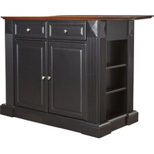 Plumeria Drop Leaf Breakfast Bar Top Kitchen Island