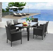 Clinton Outdoor Rectangular Dining Table in Dark Brown