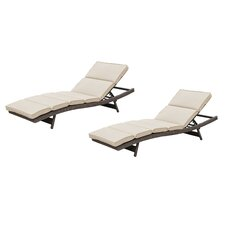 Camden Chaise Lounge with Cushion (Set of 2)