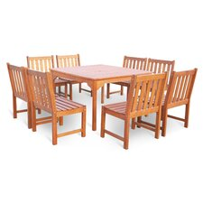 Bucksport 9 Piece Dining Set