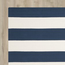 Wallingford Hand-Woven Navy/Ivory Area Rug