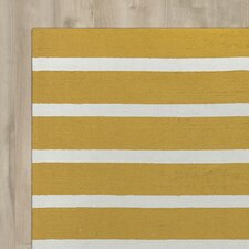 Lilesville Hand-Tufted Gold Indoor/Outdoor Area Rug
