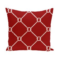 Hancock Ahoy Geometric Outdoor Throw Pillow