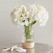 Hydrangea Bouquet in Rope Embellished Mason Jar